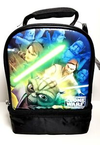 Star Wars Clone Wars Insulated Thermos Lunch Tote Bag Youth Adult 11 x 7 NWT