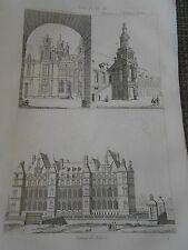 Gravure 1841 - Chateau de Madrid
