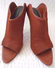Alexander Wang Peep Toe Pony Hair Mules Shoes Size 38