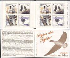 Sweden 1994 WWF/Woodpecker/Goose/Sea Eagle/Tern/Birds/Nature 8v bklt (s434)