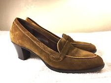 Bruno Magli women's brown suede heels shoes size 37 Excellent! Made in Italy