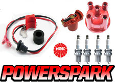 Vw Escarabajo Vw T1 y T2 1.6 Tapa Rotor B5hs Ngk enchufes y powerspark ignition kit
