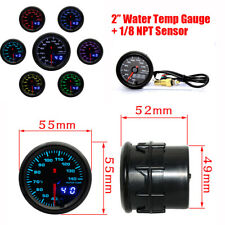 "2"" Car Water Temperature Gauge 7 Colors LED Display 40-140° With 1/8 NPT Sensor"