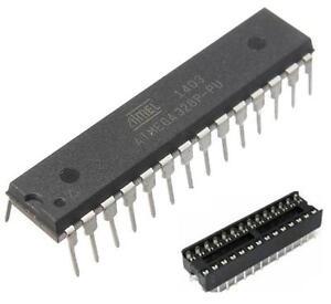 1PCS IC ATMEGA328P-PU ATMEGA328P DIP28 Microcontroller ATMEL NEW + DIP SOCKET