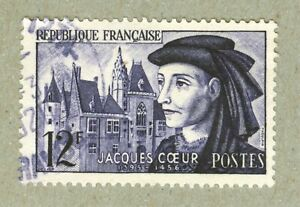 FRENCH POSTAGE - JACQUES COEUR 1395-1456 STAMP POSTES FRANCE 1955