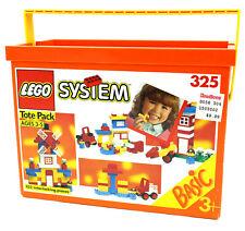 Lego System Tote Pack #325, New & Factory Sealed Vintage Set (1992)