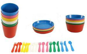 Ikea Kakas Baby Kids Plastic Cups Plates Bowls Cutlery Mugs set Children's Party