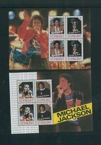 Wholesale Topical. St. Vincent 898-901 Michael Jackson SS. Cat.106.00 (10x10.60