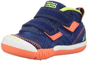 Toddler Skechers Flex Play-mid Dash Sneaker 97881 Color Navy/Lime Brand New