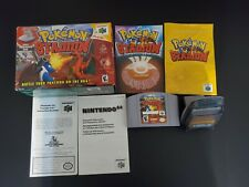 Pokemon Stadium 1 Nintendo 64 N64 EXMT- condition w box, manual transfer pak!