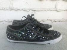 RARE Ash Vox Embellished Velvet Trainers Sneaker Camouflage Sz US 7 EUR 38