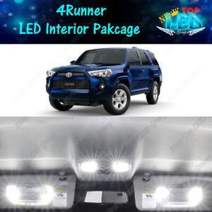 13x White LED Lights Interior Package Kit for 2010 - 2020 2021 Toyota 4Runner