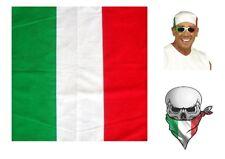 ITALY Flag ITALIAN BANDANA Scarves Scarf Head Hair Neck Band Skull Wrap Hanky