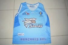 Maillot Rugby SHARKS Port BARCARES # 3 porté taille L