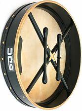 BODHRAN DRUM Irish Celtic 18 Inch GREEN Drums + CASE BAG + 2 Tippers