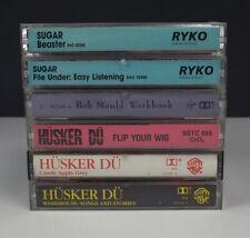 Lot 6 Rock Cassette Tapes - Husker Du / Sugar / Bob Mould / Flip Your Wig