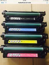 HP Genuine OEM CE250X CE251A CE252A CE253A Toner CP3520 3525 3530 67 66 68 68
