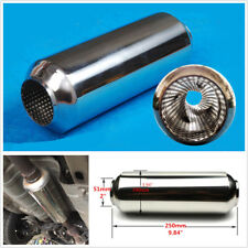 "Universal 2"" (51mm) Stainless Middle Car Exhaust Muffler Tornado Silencer Pipe"