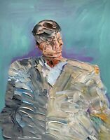 Abstract Portrait David Byrne Big Suit Music Painting Knife Fine Wall Art Print