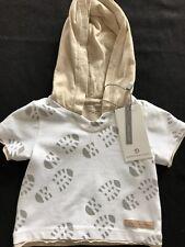 Bellybutton (Germany) NWT Organic Cotton Footprint Hoodie- Newborn