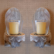 PAIR Shabby Chic Wall Tealight Candle Holders Sconces