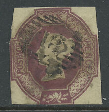 1847 SG59 GB QV 6d Purple Embossed Used 2 Margins