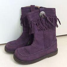 Pom D'api Eu 27 (Uu10.5) Purple Suede Tassle Boots