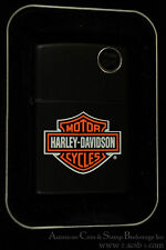 Harley Davidson Motorcycles Matte Black Zippo Lighter Wind proof New In Box.