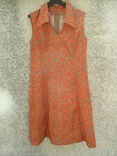 Robe vintage Créations TAMAGRA années 70 dress marron orange made in France 44