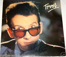Elvis Costello Hand Signed Autographed Trust Vinyl Album! With Proof + C.O.A