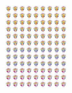 108 Winnie the Pooh Baby Shower Stickers Hershey kiss Labels Party Favors .75in