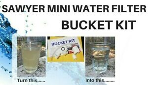Sawyer Mini Water Filter Bucket Kit - Get Ready for the SHTF / Preppers
