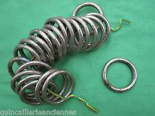 22 anneaux massif chromé occasion tringle rideau diamètre intérieur 4,5 cm
