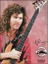 Kip Winger 1991 Jackson Charvel Bass Guitar ad 8 x 11 advertisement print