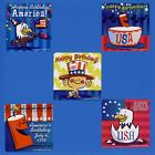 15 Happy Birthday USA - Large Stickers - Party Favors - Fourth of July - America