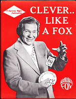Clever Like a Fox-Karrell Fox Comedy Magic Book-1st Edition-Close-Up-Cards-Coin