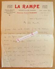 L.A.S 1930 Albert DUBARRY entête magazine LA RAMPE Théâtre Musique Cinéma LAS