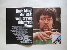 Manfred Mann Klus Voorman Hugg Mike d'Abo Tom McGuiness clippings Germany