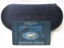 Blue LONGINES Watch Service Zipper Box Pouch Case & International Guarantee Card