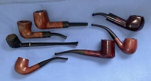 Vintage Estate Briar Smokers Pipe Collection 7 In Total All Unused