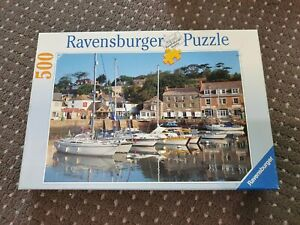 "Ravensburger ""The Harbour at Padstow"" - 500 Pieces Jigsaw Puzzle *RARE*"