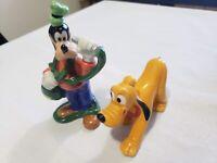 Vintage Disney Pluto (Japan) + Goofy (Sri Lanka) Ceramic Figurine Figurines