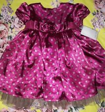 Mamas And Papas Dress 6-9 Months Brand New Tags baby girl Satin occasion dress