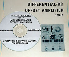 Hewlett Packard Ops & Service Manual for 1803A Differential DC Offset Amplifier
