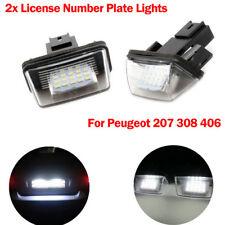 2X Kennzeichen Beleuchtung Nummernschild LED Für Peugeot 206 207 306 307 406 407