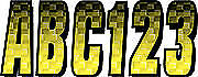 """3"""" Letter Registration Kit Number Sticker Decals Boat Yellow Black Sea Doo XP"""