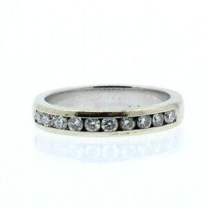 14K WHITE GOLD .70ct DIAMOND BAND LADIES RING SIZE 7.5