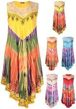 Round Neck Plus Size Sleeveless Dresses Midi for Women