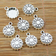 20pcs Tibetan silver beer bottle cap charms EF1618