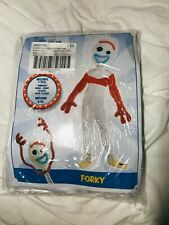 New Toy Story 4 Kids FORKY Halloween Costume Medium 8-10 HTF Party City